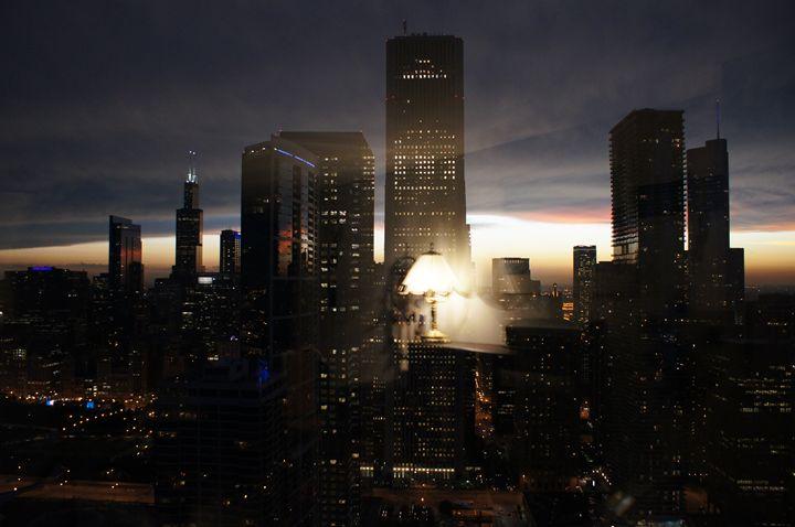 Light On A Dark City Skyline - Gregory Patrick Lafferty