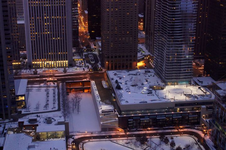 Wintry New East Side At Dusk - Gregory Patrick Lafferty