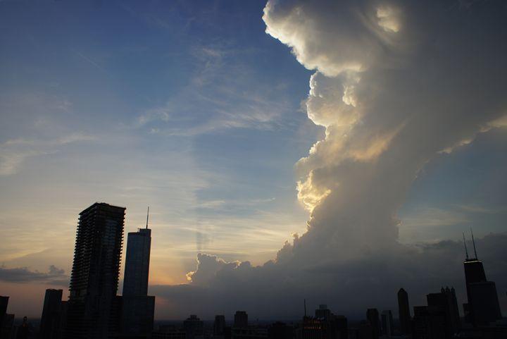 Sunset Sky Over Chicago - Gregory Patrick Lafferty