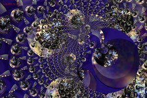 Metallic Violet Mesh