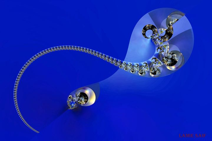 Sperm in Blue - L. S. Digi-Art