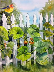 Picket fence - Colette Pitcher art