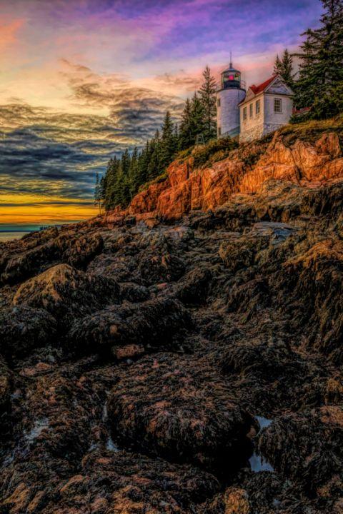 Bass Harbor Light HDR - Mndphoto