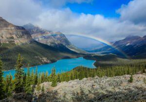 Petyo Lake Rainbow Fine Art Print