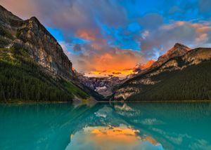 Lake Louise Stunning Sunrise