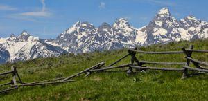 Rustic Mountain Landscape Fence