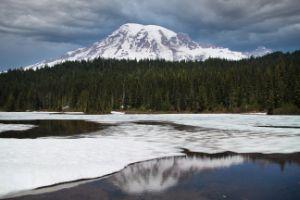 Mount Rainier Spring Reflection