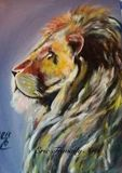 Original painting lion
