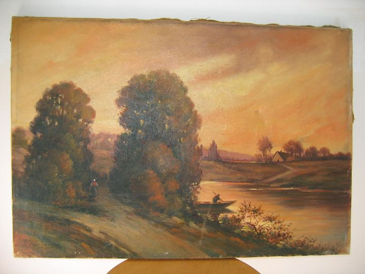 Sunset  in old  French Lanscape - FOURGEAUD  FRENCH