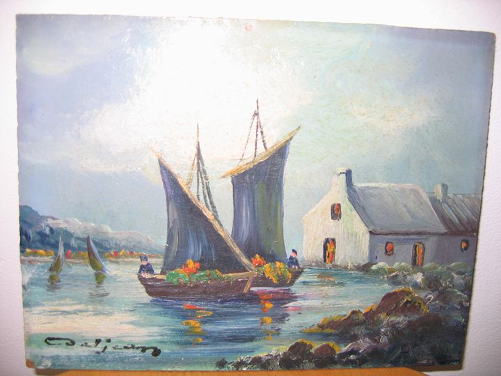 HOUSE AND BOAT - FOURGEAUD  FRENCH