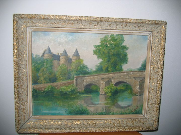 THE BRIDGE AND THE CASTLE - FOURGEAUD  FRENCH