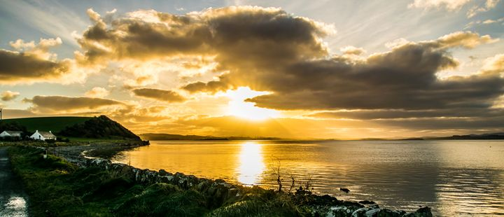 An Irish Sunset By The Sea - Vertical Horizontal Photography