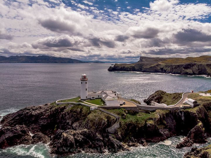 Donegal Coast Lighthouse - Vertical Horizontal Photography