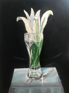 Acrylic Flower in vase painting - Levy art