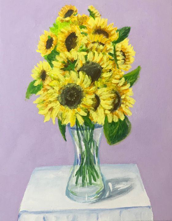 Beautiful sunflowers - Levy art