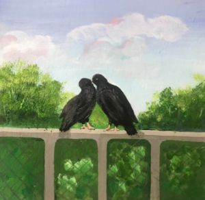 Birds pictures acrylic painting - Levy art