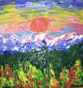 Mountains landscape - Levy art