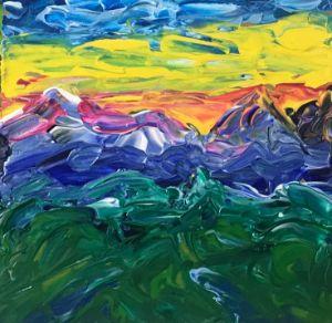 Landscape painting impasto