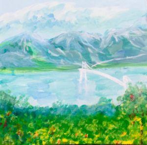Airbridge in mountains