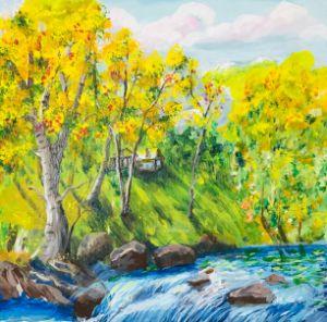 Mountains landscape picture - Levy art