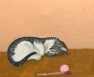 Pictures sleeping kitten - Levy art