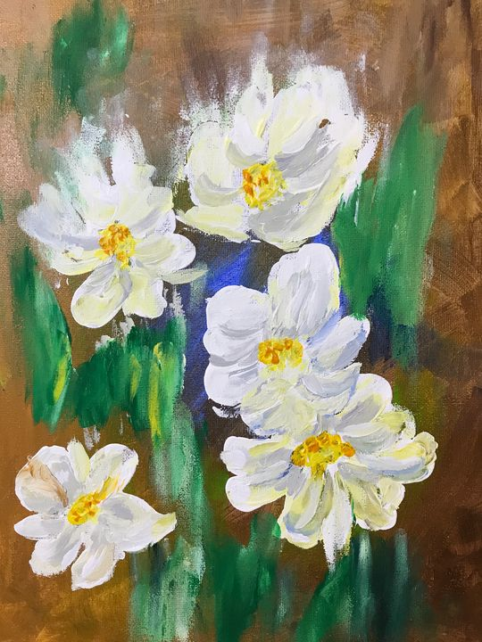 White flowers - Levy art