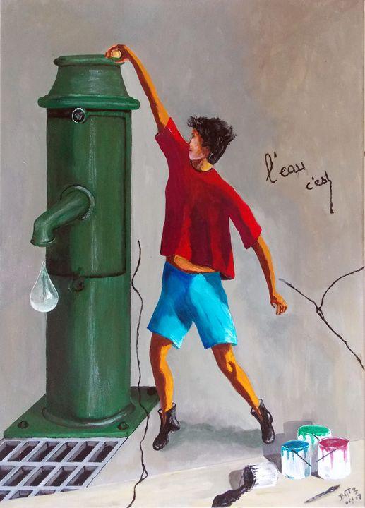 La fontaine et l'enfant - Batzgallery