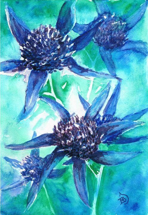 Blue Thistles - mbj-designs