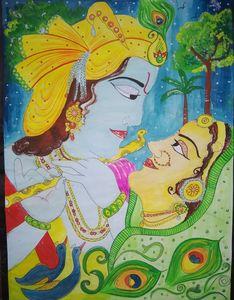 Love between radha krishna