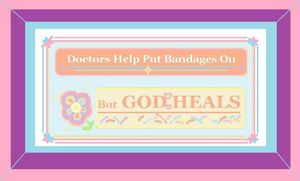 Soft Colour God Heals Quote