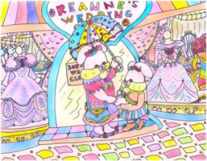 Mommy and Rolleen Rabbit's Gown Shop