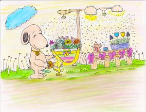 Snoopy and Woodstock by Annie Ho