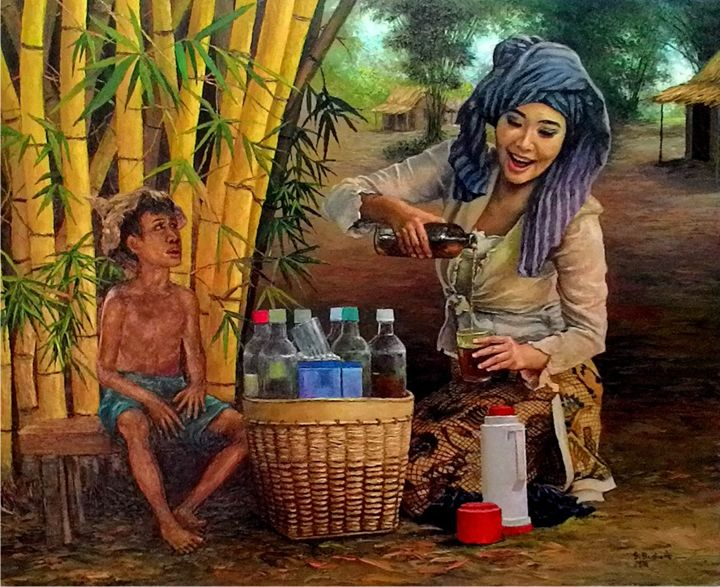 Traditional Drink - painting