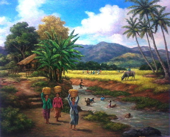activity in the village - painting