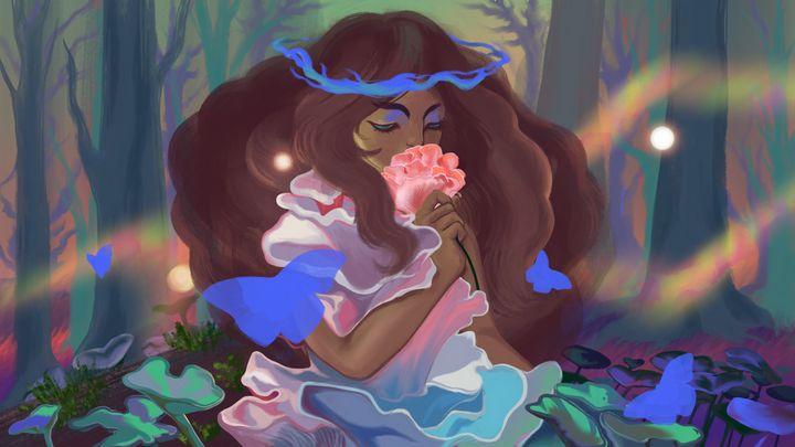 The Mushroom Fairy - Ala M Lockhart