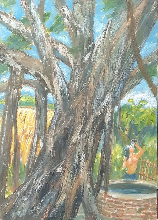 behind the banyan tree - Artist Cuong Nguyen