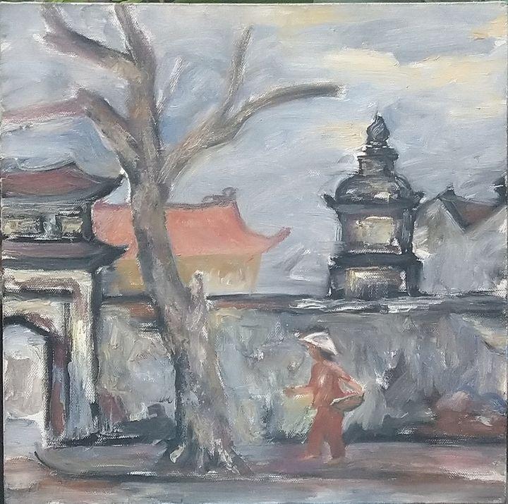 Go to Pagoda - Artist Cuong Nguyen