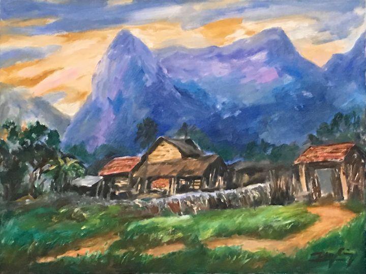 Upland landscape - Artist Cuong Nguyen