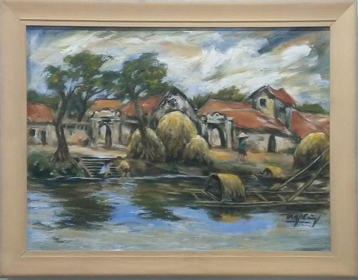 My hometown river - Artist Cuong Nguyen