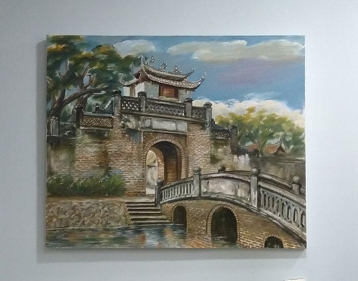 Gate of ancient Vietnamese village - Artist Cuong Nguyen