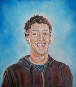 Mark Zuckerberg painting.