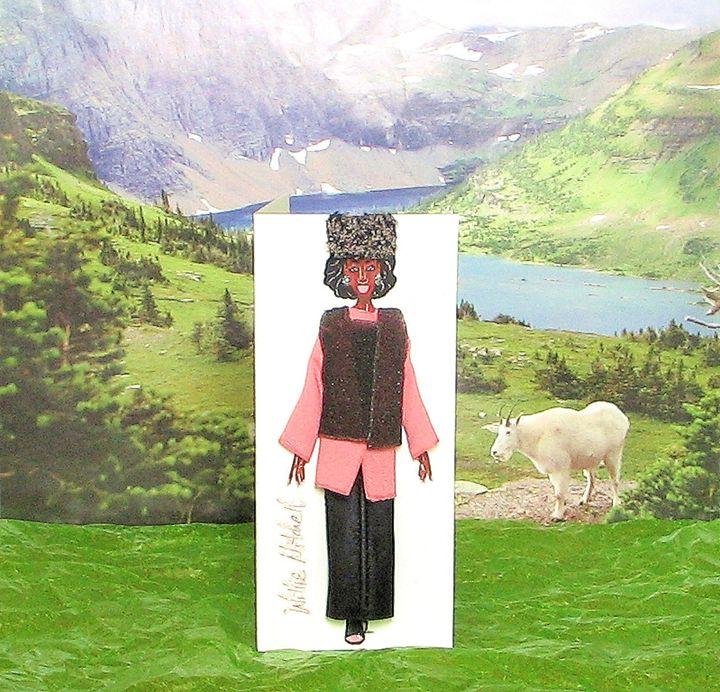 3-D Fashion Greeting Card - Willie Mitchell Designs & Originals