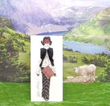3-D Fashion Greeting Card