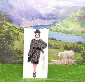 3-D Fashion Greeting Card - Willie Mitchell Designs & Originals