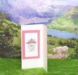 3-D Fashion Greeting Card