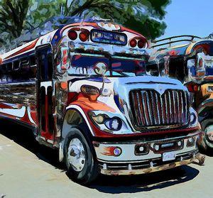 Pastels Bus