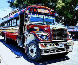 Handsome Red Bus