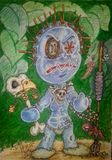Print of drawing VD doll
