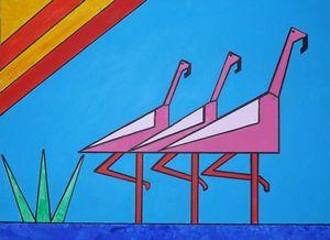 Three Flamingos - Sean K Bolger