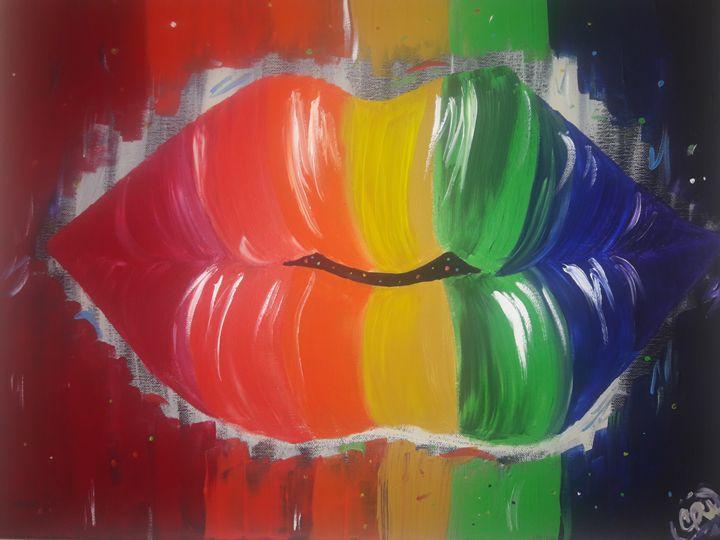 Rainbow Kisses - Eva Stush Art